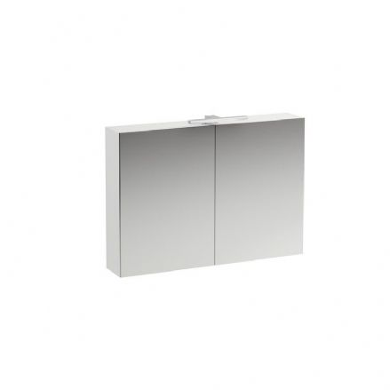 402872 - Laufen Base 700mm x 1000mm Two-Door Mirror Cabinet with Light - 4.0287.2